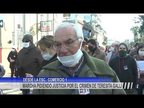 Multitudinaria marcha en pedido de justicia por el crimen de Teresita Galli