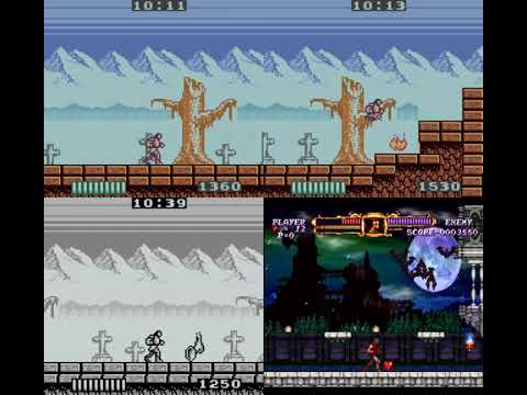 The Castlevania: Adventure Comparison; Gameboy, Color, Speed