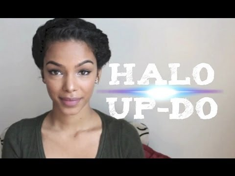 Easy Amp Elegant Halo Up Do Youtube