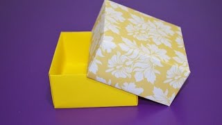 How To Make Your Own Paper Box - EASY!