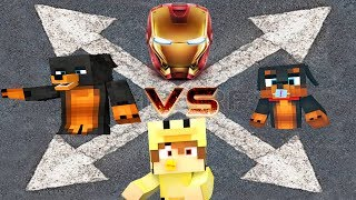 Minecraft Headwars - IRONMAN JOINS TO TRY AND DEFEAT THE LITTLECLUB...