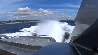 Pershing 64  Sea trial, Arneson Drive ASD 14 and 2 X Man V 12  1550 HP