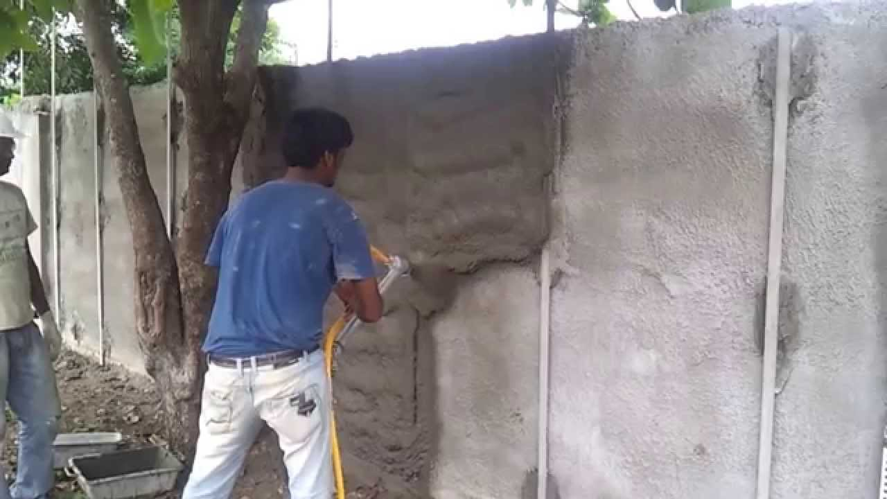 PS 3000 PLASTERING MACHINE BOUNDARY WALL PLASTERING YouTube