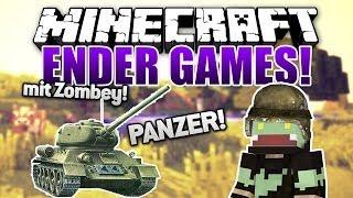 Ich bin ein PANZER! Brum Brum mit Zombey! - Minecraft ENDER GAMES SERIE #11 | ungespielt