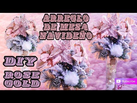DIY Centro De Mesa Navideño  Rose Gold 2018