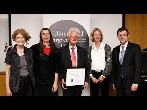 Volkmar and Margret Sander Prize 2017: Karsten Voigt