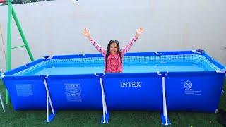 شفا سوت اكبر مسبح في البيت !!!  biggest swimming  pool