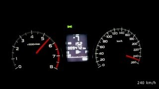 Subaru Forester 2013 2,0 Turbo XT - acceleration 0-220 km/h + top speed test