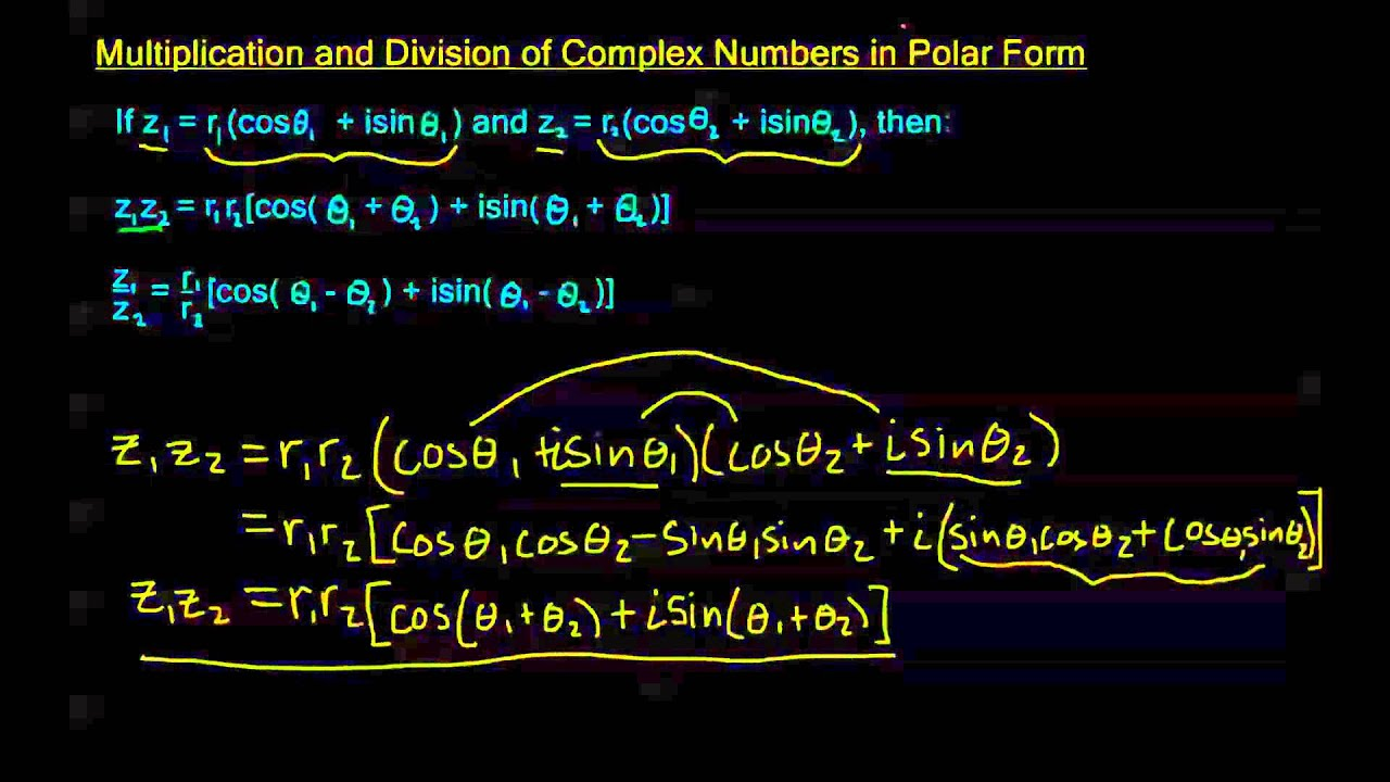 8.3.3 - Multiplication and Division of Polar Complex Numbers - YouTube