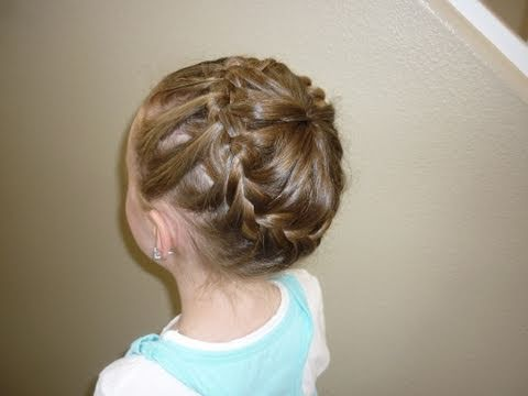 Never Ending French Braid Bun Princess Hairstyles