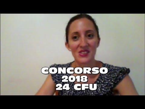 CONCORSO 2018, 24 CFU
