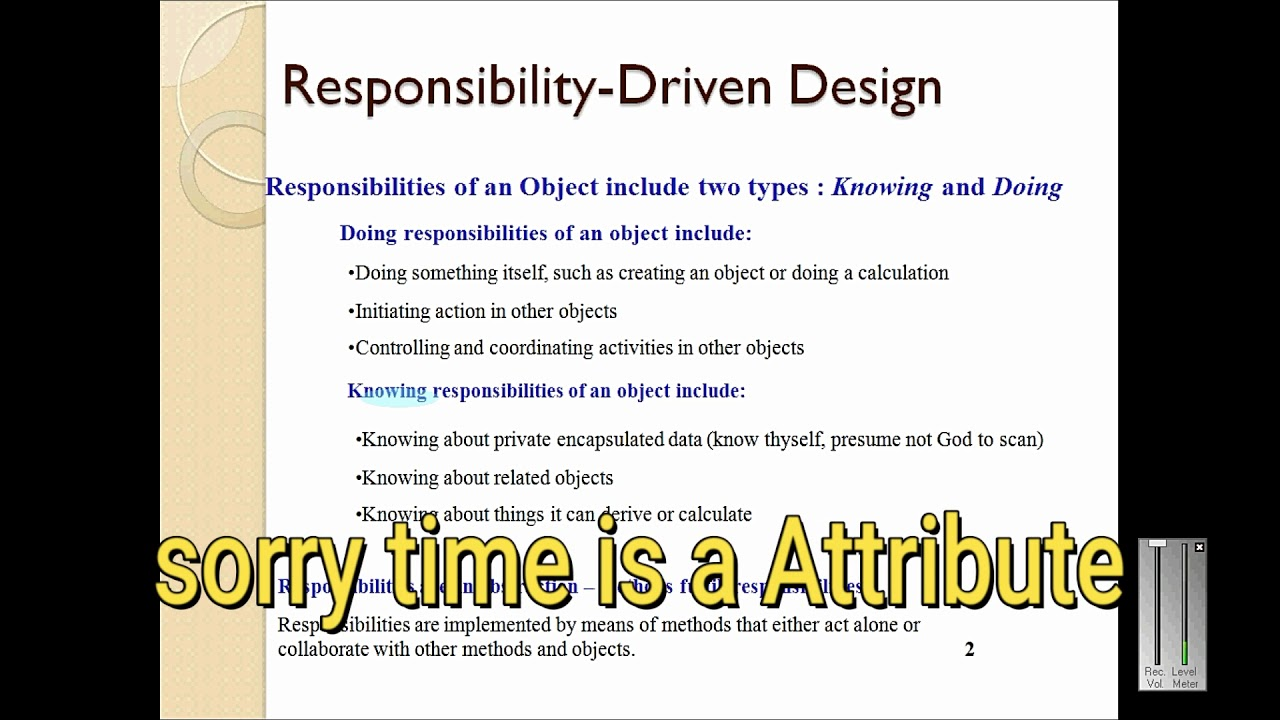 What is responsibility, its types