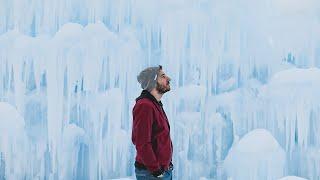 Exploring a Massive Ice Castle in New Hampshire!