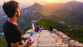 Sunset Over The Great Wall