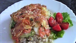Запеканка из кабачков Кабачки рецепты Кабачки в духовке Блюда из кабачков