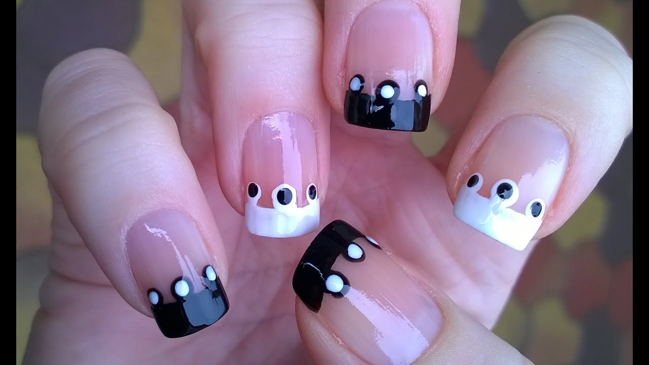 french manicure ideas #2 black