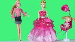 Barbie Kuaför oldu Maşanın saçını Yapıyor Oyuncak Kuaför seti Açıyoruız