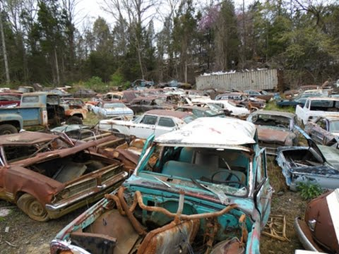 North Carolina Classic Car Junkyard - Wrecked Vintage ...