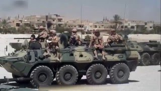 russian army in Palmyra who anti ISIS