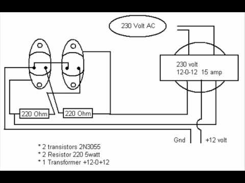 Inverter Circuit Diagramwmv YouTube - Circuit diagram of an inverter