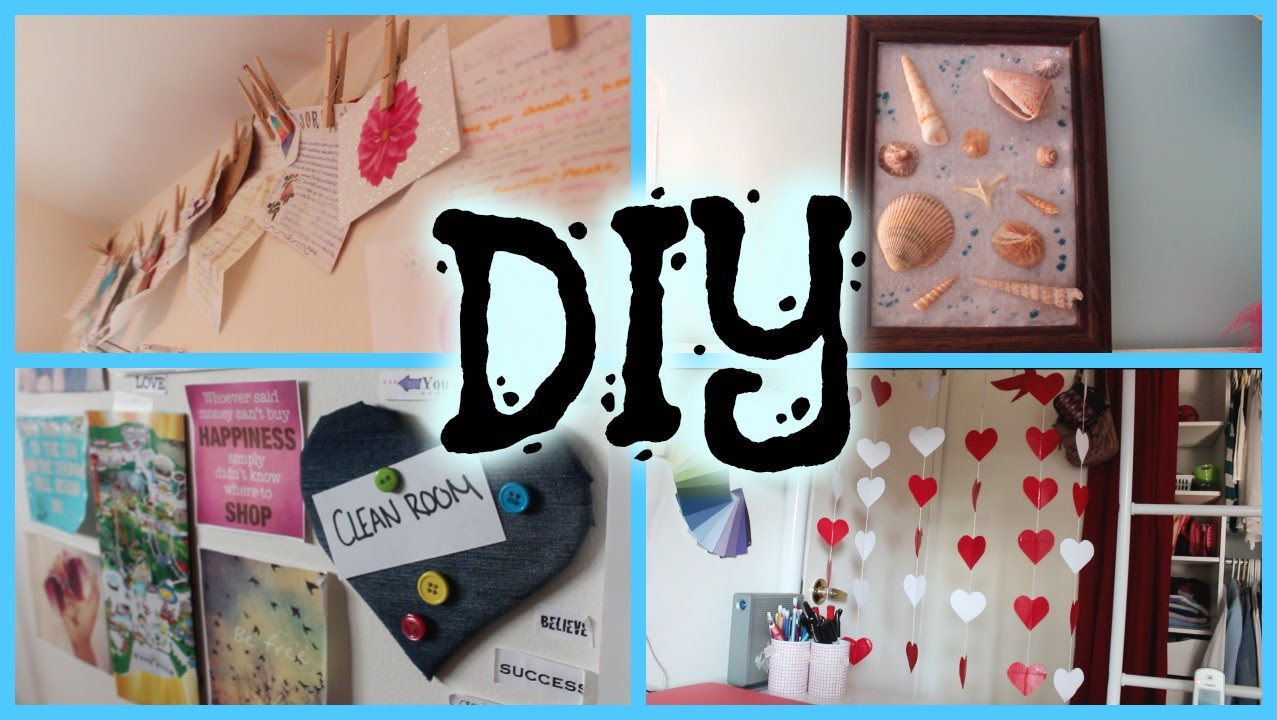 diy pinterest inspired room decor - howtobyjordan - youtube