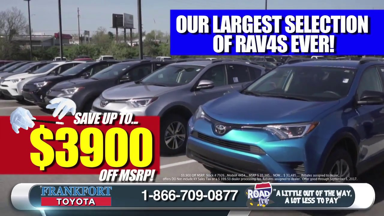 Frankfort toyota national clearance event