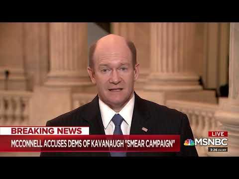 Sen. Chris Coons: Burden of proof lies with Kavanaugh to prove innocence