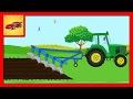 Desene Animate pentru Copii. Tractorul la Ferma