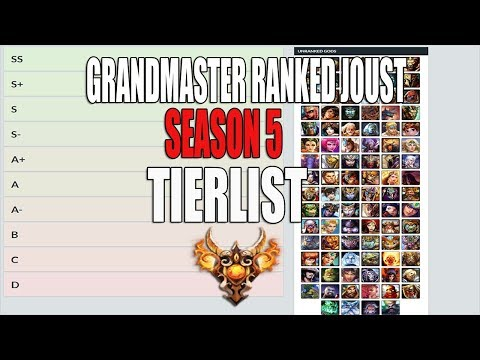 Season 5 Grandmaster Ranked Joust 3v3 Tierlist- Smite