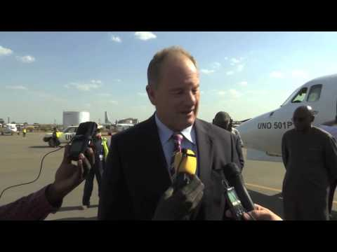 UNMISS SRSG David Shearer arrives in Juba
