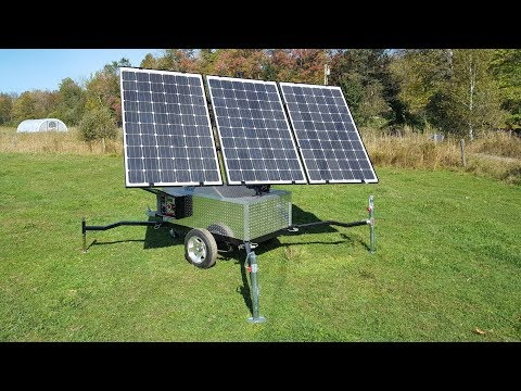 Quantum Harvest Sun Tracking Portable Solar Power System