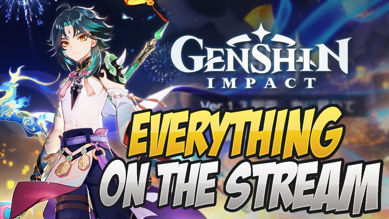 10 Free Wishes 1600 Primogems Everything On The Livestream Genshin Impact Youtube