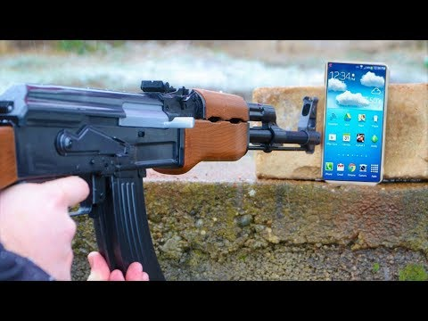 GUN AK 47 vs MOBILE PHONE