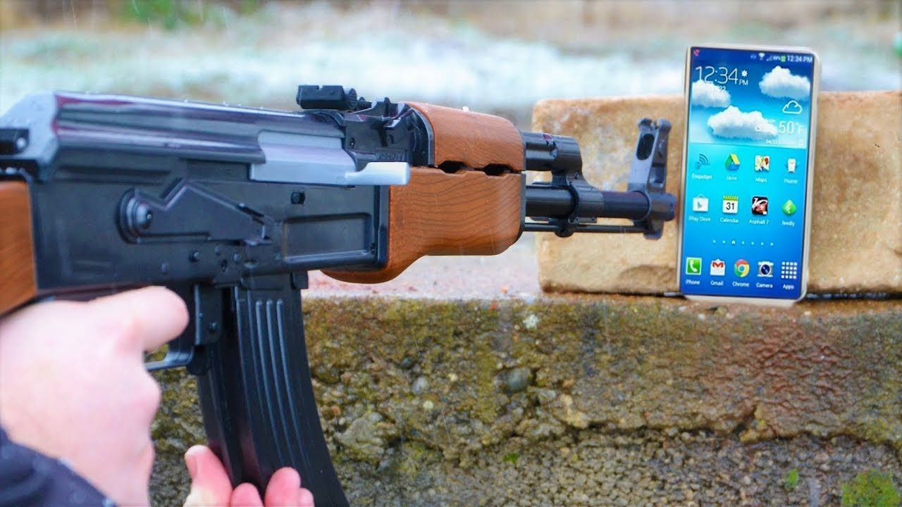 AK47 And Cell Phone
