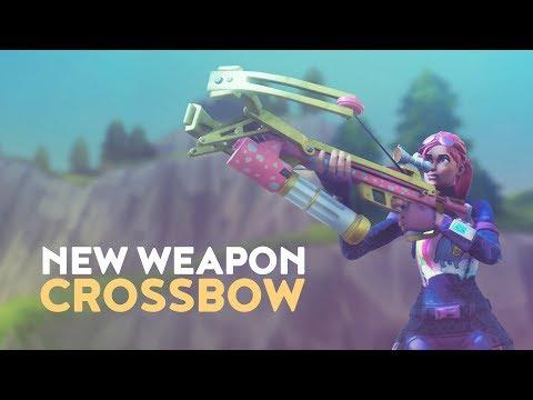 NEW WEAPON: CROSSBOW (Fortnite Battle Royale)