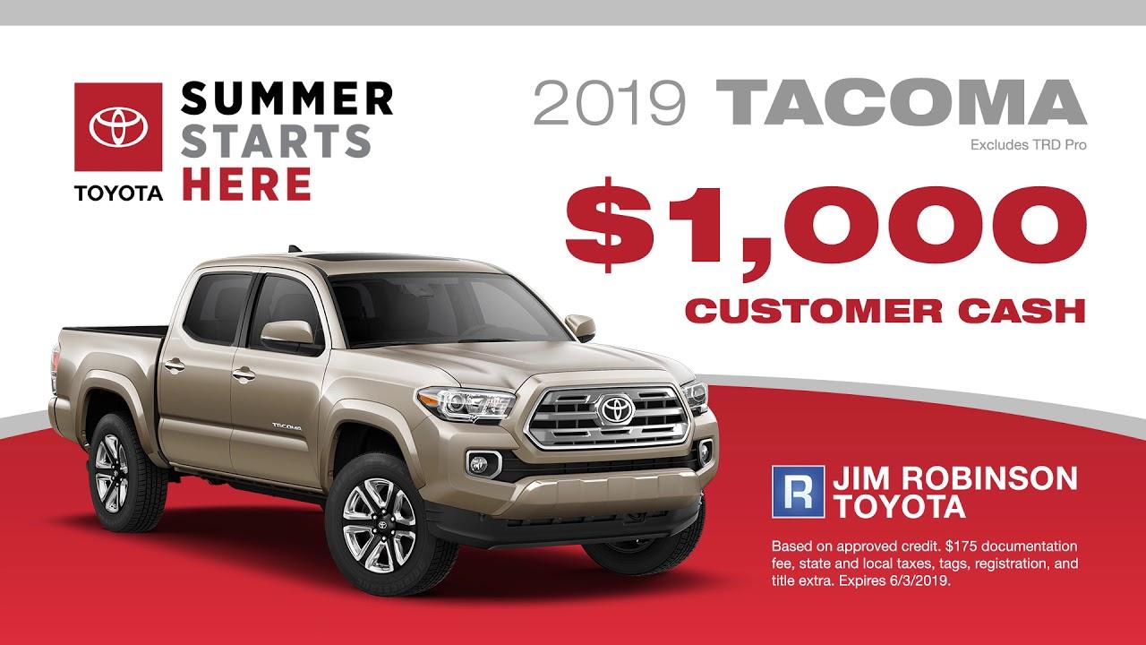 Jim Robinson Toyota >> Jim Robinson Toyota May Promo 1 Youtube