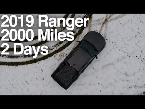 2019 Ford Ranger: 2000 Miles in 2 Days. MPG Surprise?