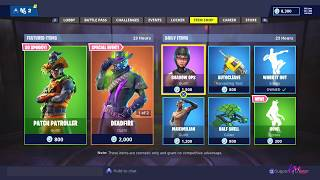 *NEW* PATCH PATROLLER SKIN & HOWL EMOTE! [ITEM SHOP OCT 28] FORTNITE BATTLE ROYALE