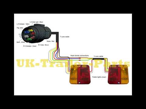 7 pin 'N' type trailer plug wiring diagram