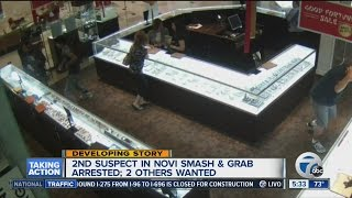Second suspect in Novi smash & grab arrested, 2 others wanted