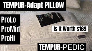 2018 tempur adapt pro pillow by tempurpedic unboxing review