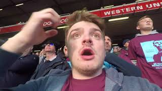 LIVERPOOL VS WEST HAM (4-1) | AWAY DAY | SALAH AND MANE CLASS | FEAT EVRA'S NEW WEST HAM CHANT
