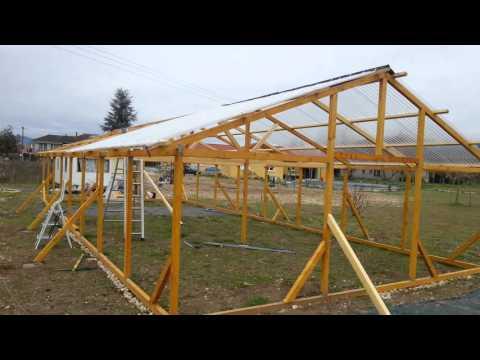 Construire une serre en bois 3 youtube - Construire table bois ...