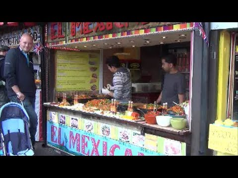 London Street Food. Great Mexican Restaurant in Camden Market, Camden Town