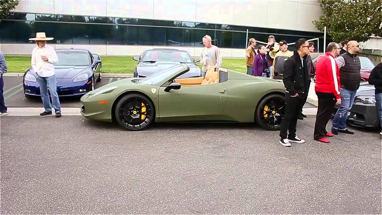new 2013 ferrari 458 spider at cci in matte army green - Ferrari 458 Spider Green
