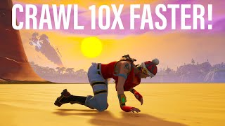 How To Activate *SPEED CRAWLING* GLITCH In PUBLIC MATCHES in FORTNITE! Crawl 10X FASTER!!
