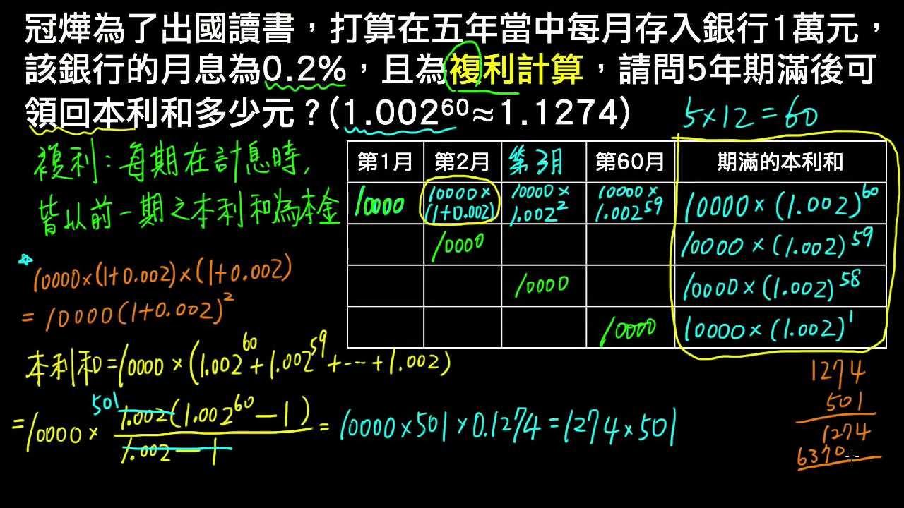 計算 式 複利 複利計算「元利合計」元手がいくらになるか