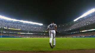 Rivera records the final three outs at old Yankee Stadium