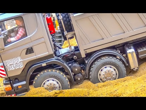 RC trucks and tractors work HARD! Scania, Mercedes-Benz and more!