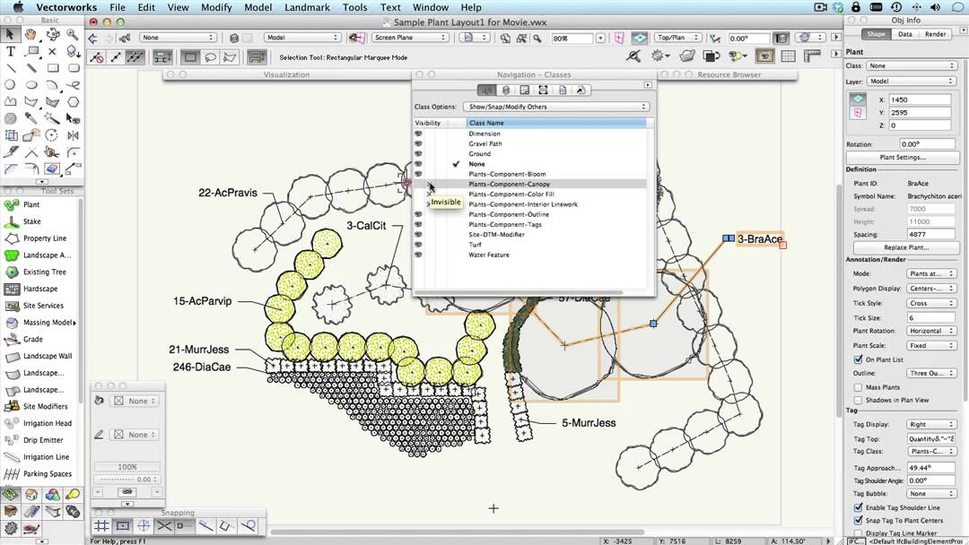 Vectorworks Landscape Plant Tool Overview - YouTube